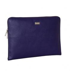 Portafolio de piel lila