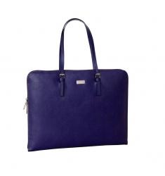 Portafolio de piel mujer lila