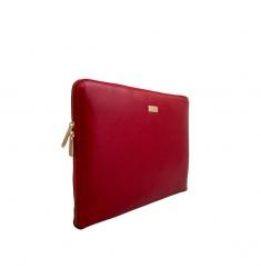 Portafolio piel rojo
