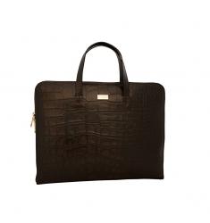 Portafolio de piel para mujer coco marrón