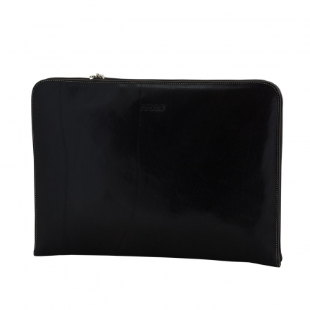 Portafolio de piel negro