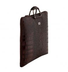 Portafolio de piel coco marrón