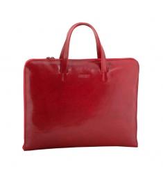 Portafolio mujer piel nature rojo