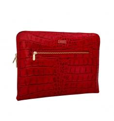 Portafolio de piel coco rojo