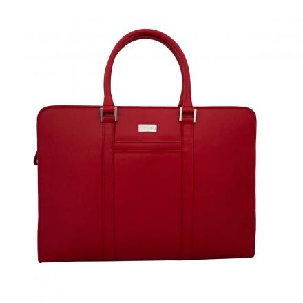 Portadocumentos piel mujer rojo artesanal