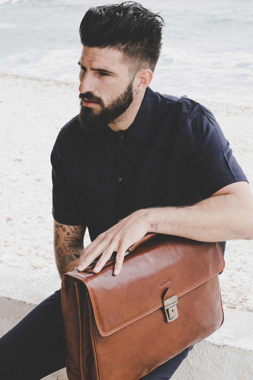 maletin de piel para hombre made in spain