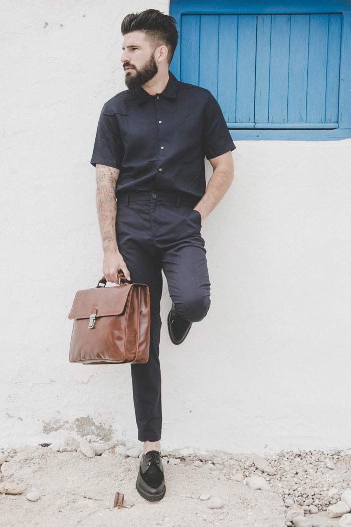 maletin de piel para hombre handmade