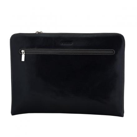 Portafolio de piel negro handmade
