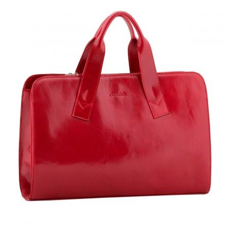 Bolso portadocumentos piel mujer rojo